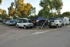Camping in Exmouth Caravan Park