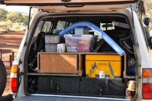 Packing an 80 series land cruiser