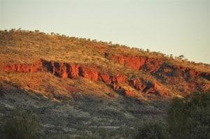 Red rock at Karijini