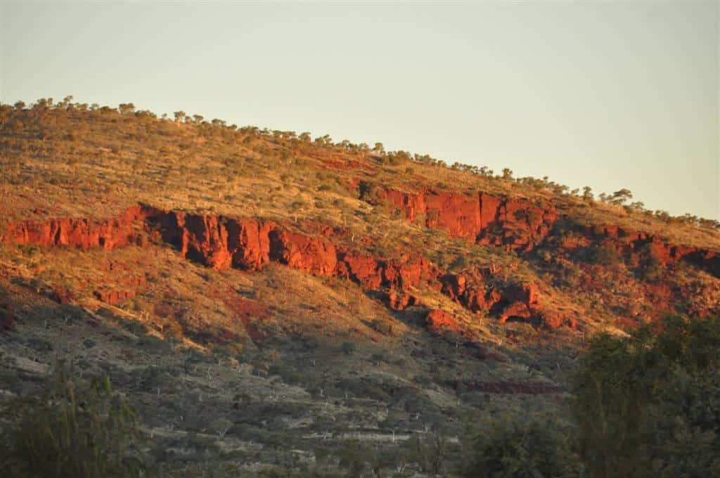 Red rock at Karijini