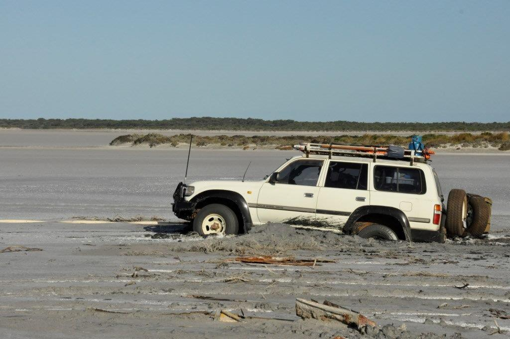 80 Series on a salt lake