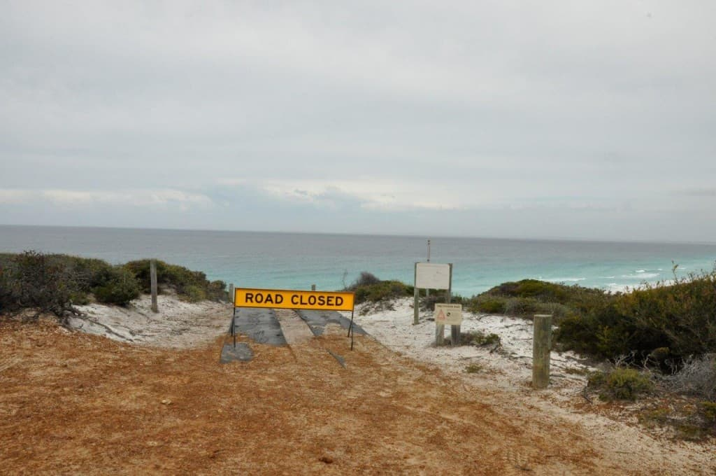 Bremer Bay 4WD track closed