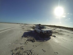 Getting bogged in a salt lake
