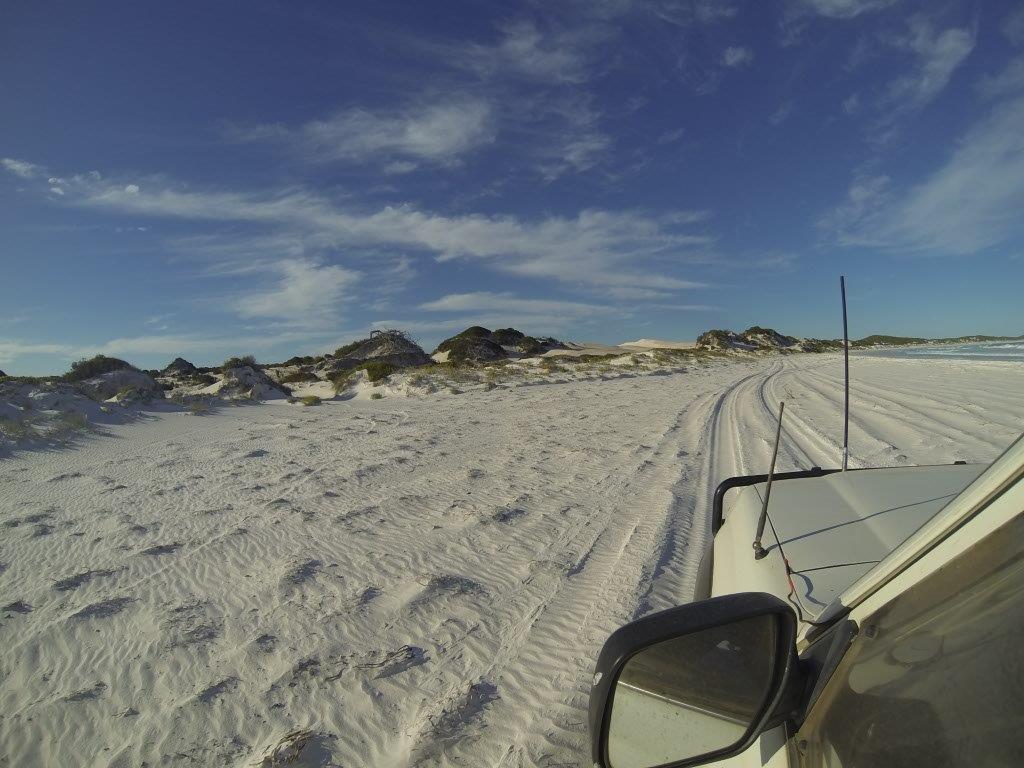 Driving Along A Beach Near Esperance