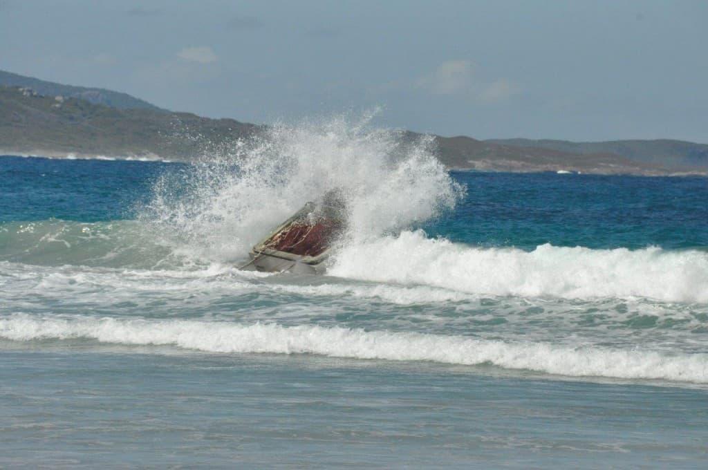 Big splash at Parry Beach