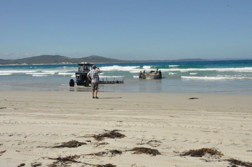 Launching the salmon boat