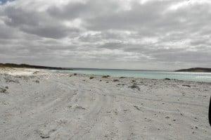 The beach at Point Riche