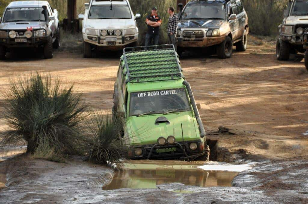 A big GQ entering a mud hole