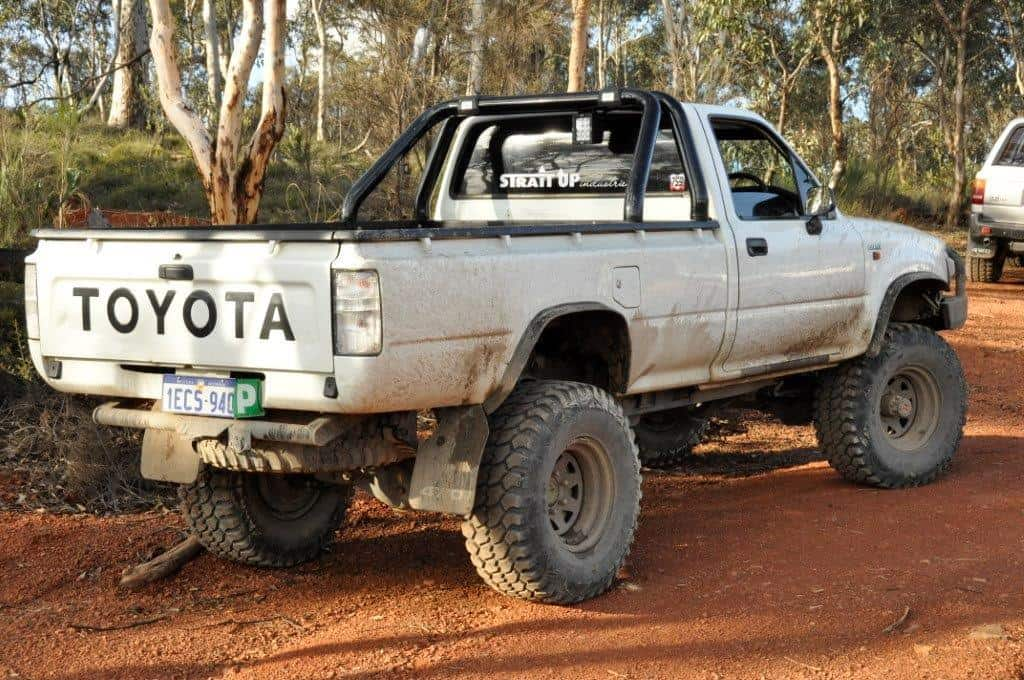 A tough Hilux at Mundaring