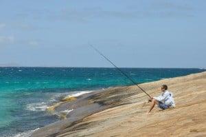 Fishing at Thomas River