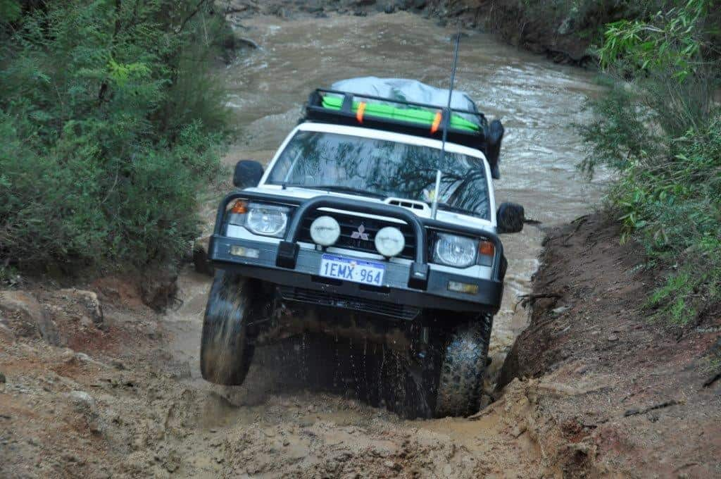 Flexing the Pajero