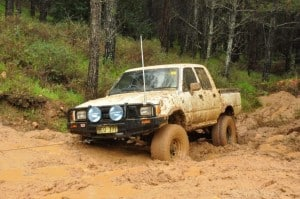 Mud driving in a 4WD