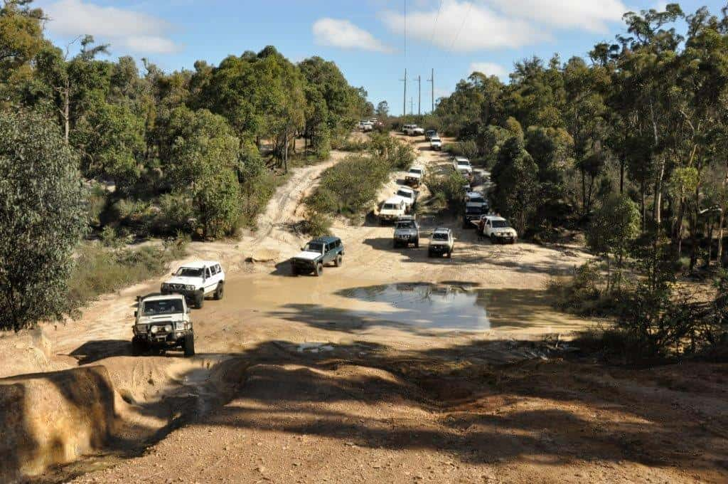 Lots of cars at Mundaring