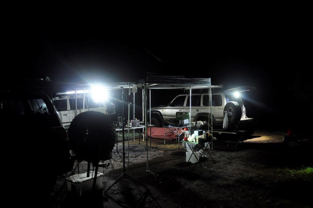 Setting up camp at Brunswick