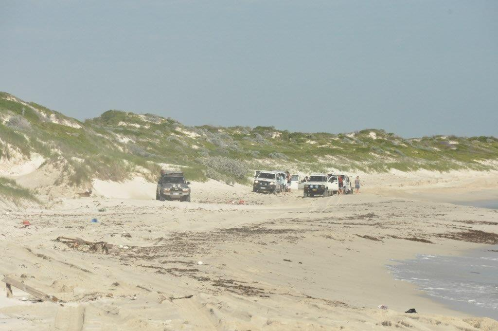 Bogged on the beach