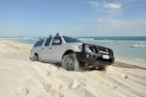 A bogged 4WD on the hump