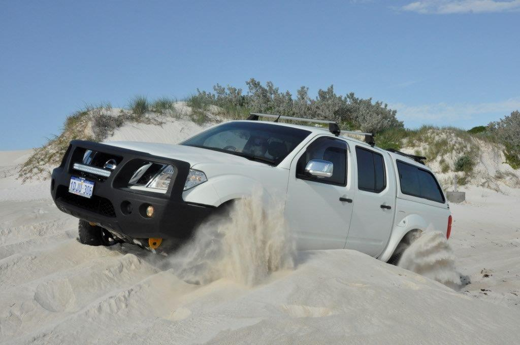 D40 Navara on the beach