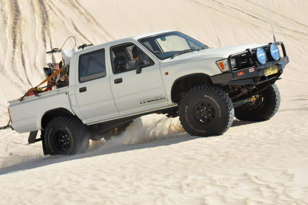 Hilux in the dunes
