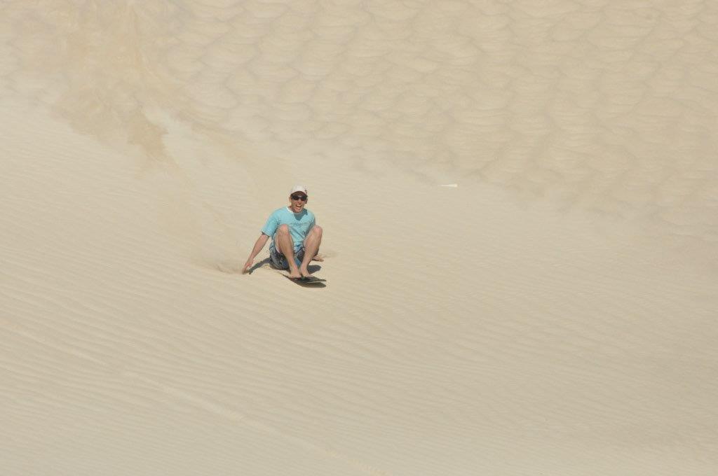 Lancelin sand boarding