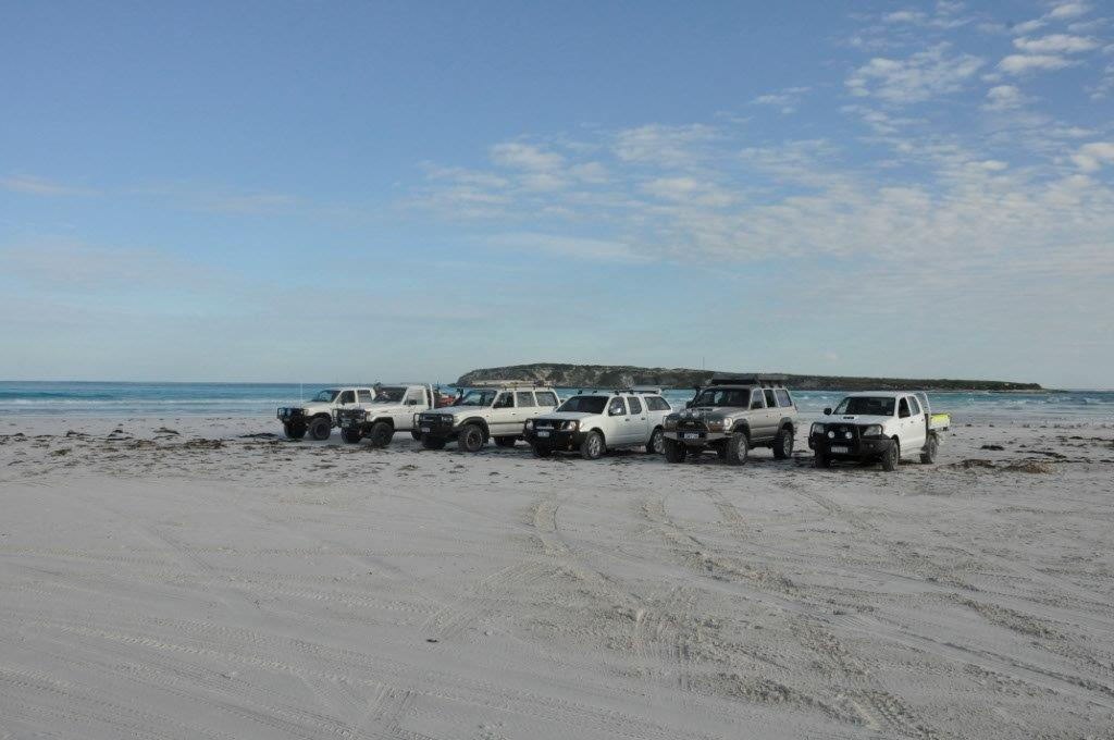 Parked at Wedge Island