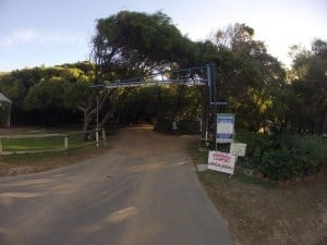 Entrance to Parry Beach