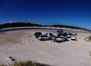 Camping with mates at Yeagarup