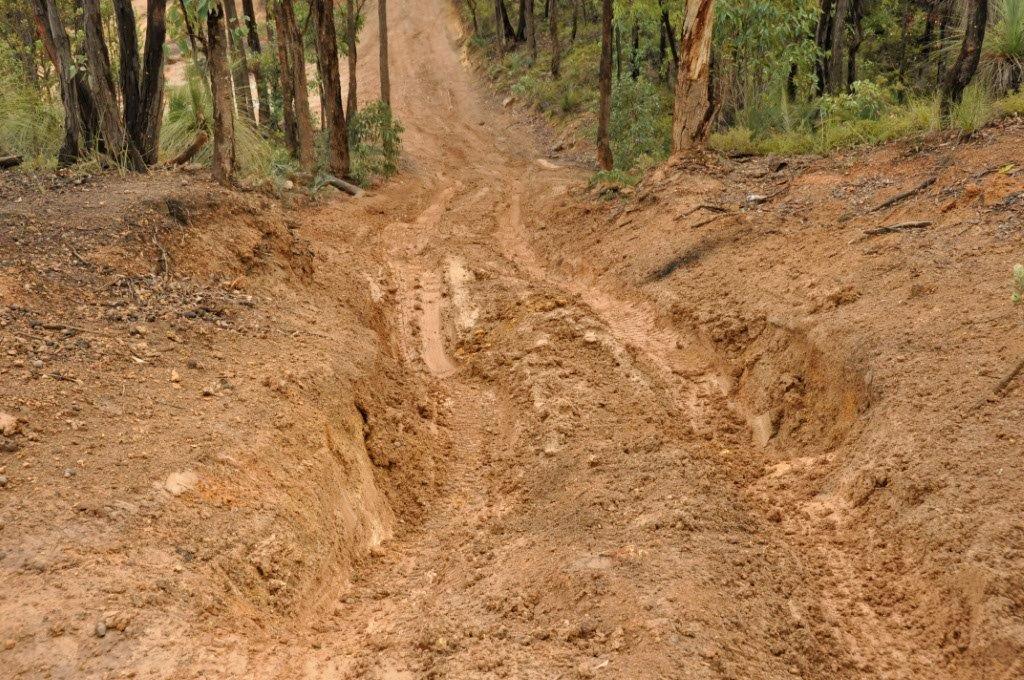Knarly hill climb at Mundaring