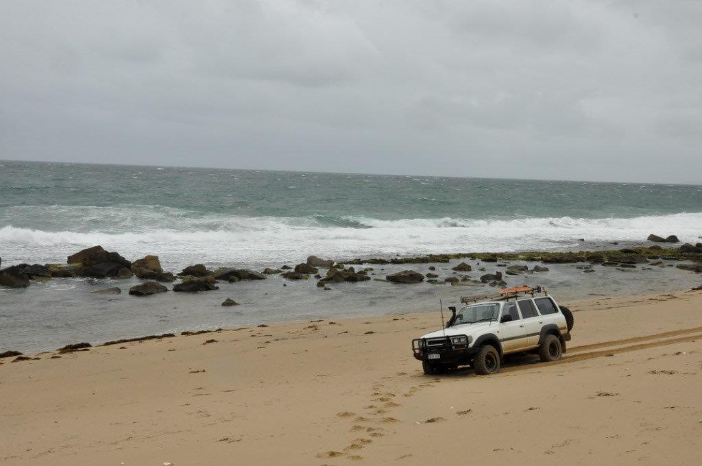 On the beach at Milyeannup