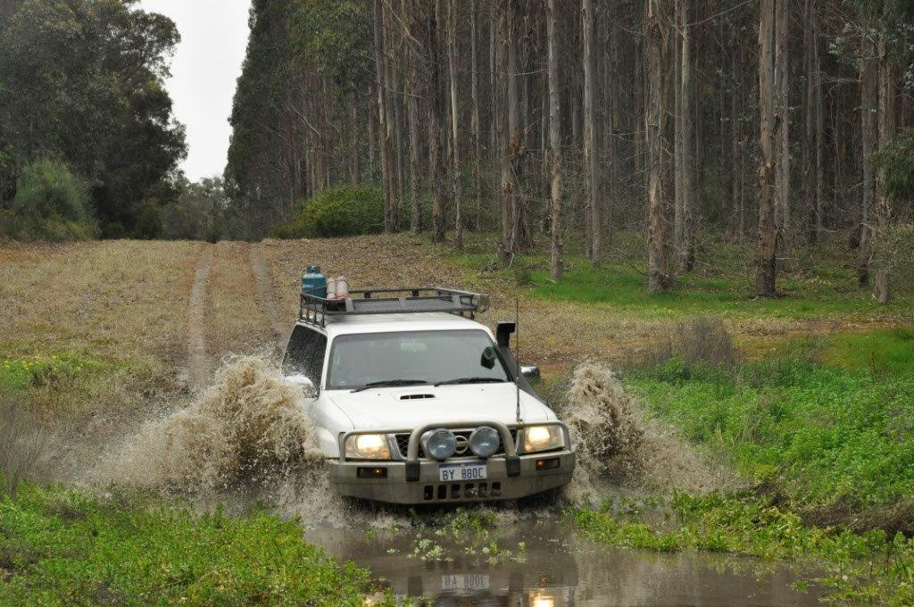 GU Patrol water crossing
