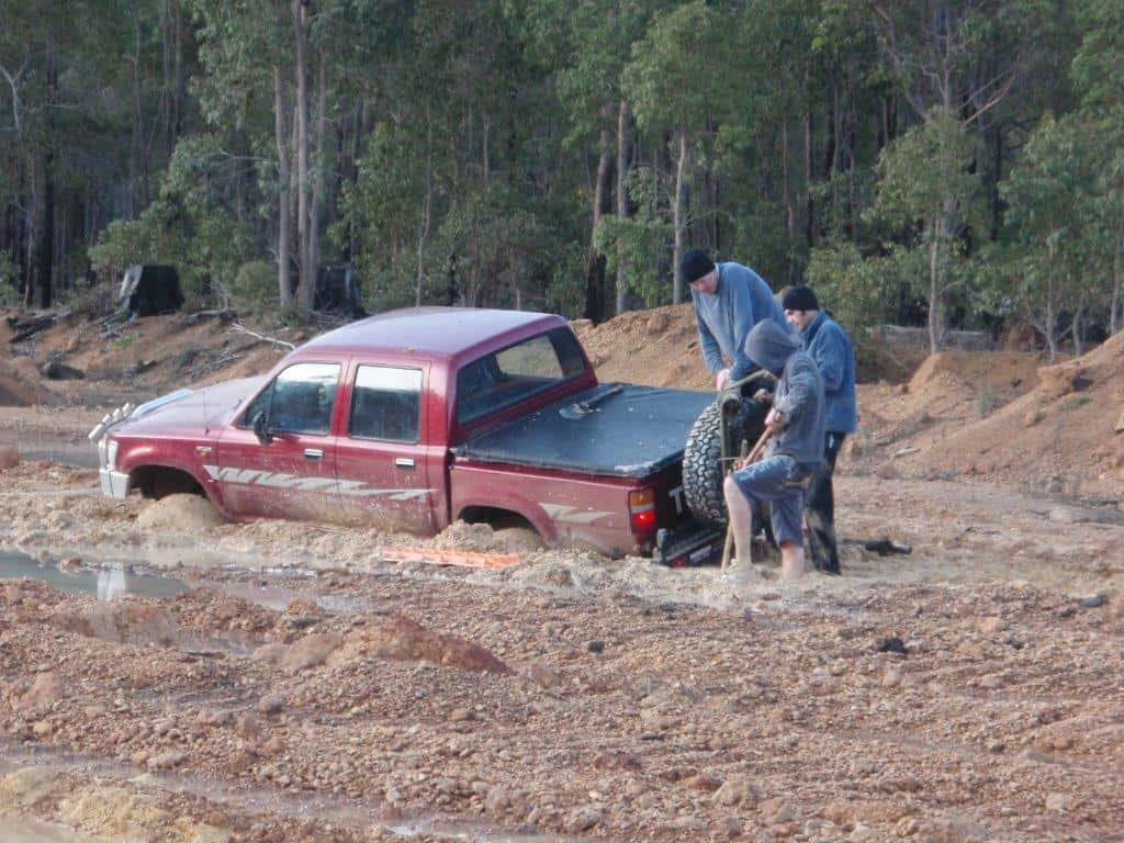 Bogged in the Hilux