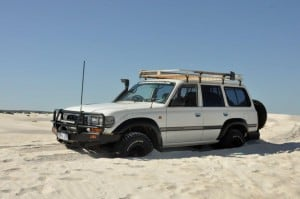 Lancelin bogged car