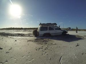 Badly bogged in the cruiser
