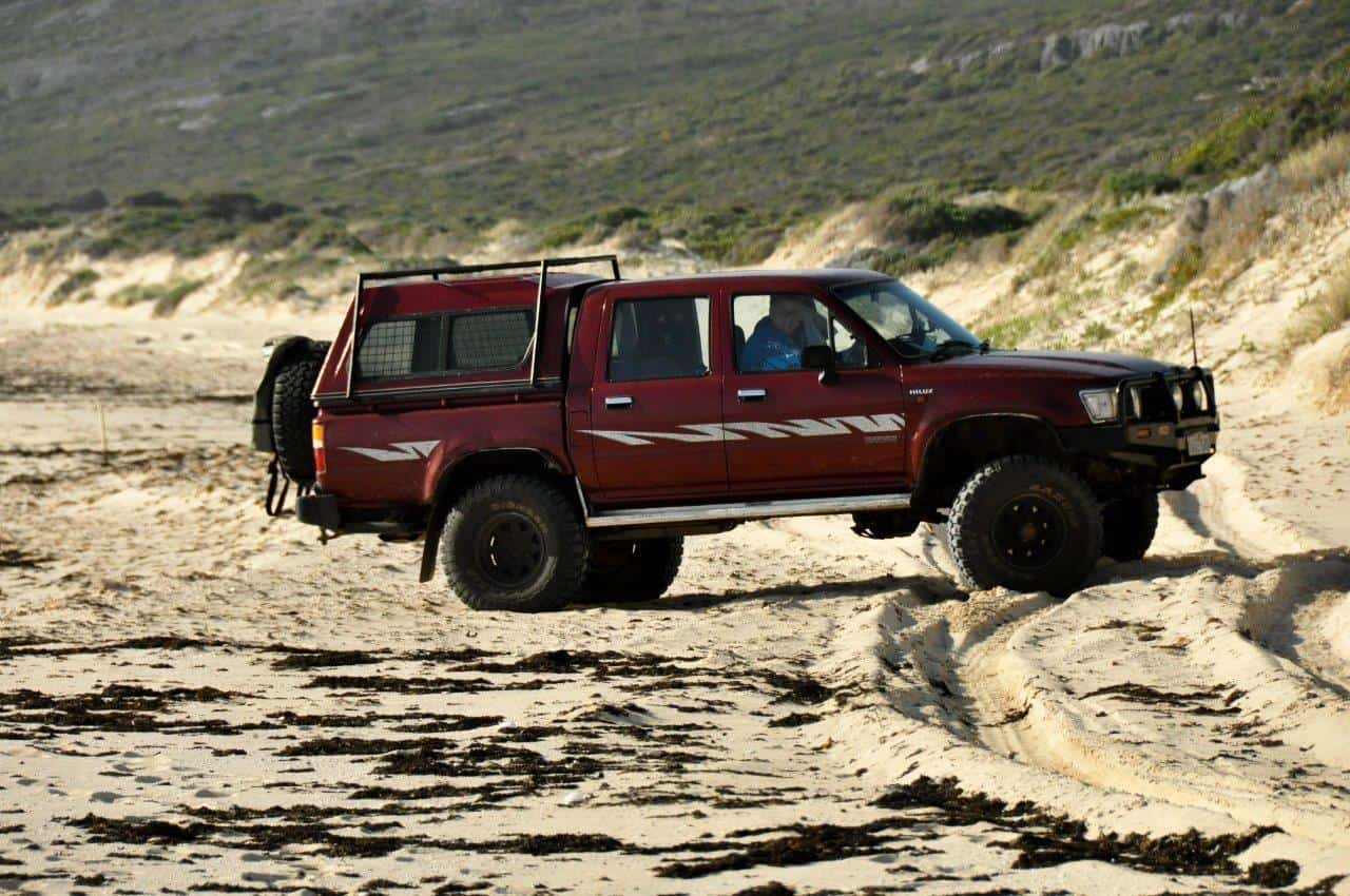Beach Driving in the Hilux