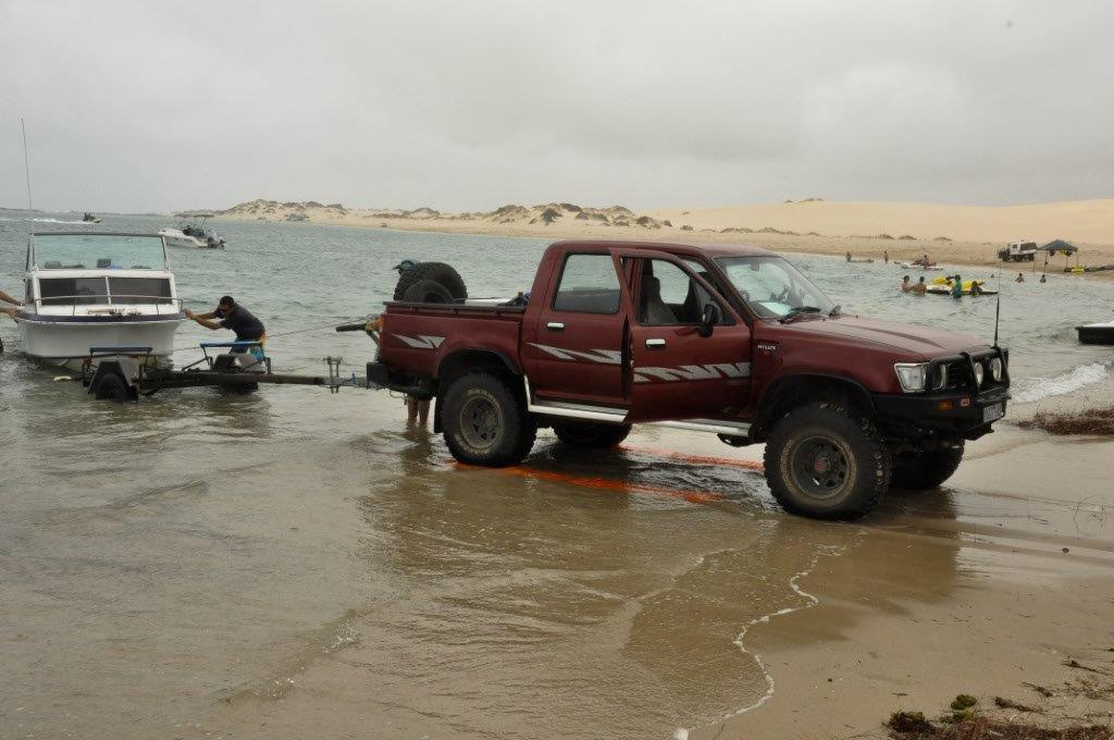 Boat retreival at Lucky Bay
