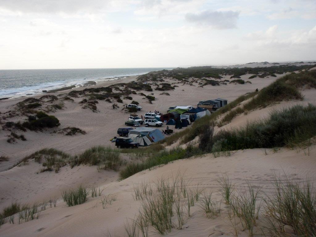 Camping at Lucky Bay Kalbarri
