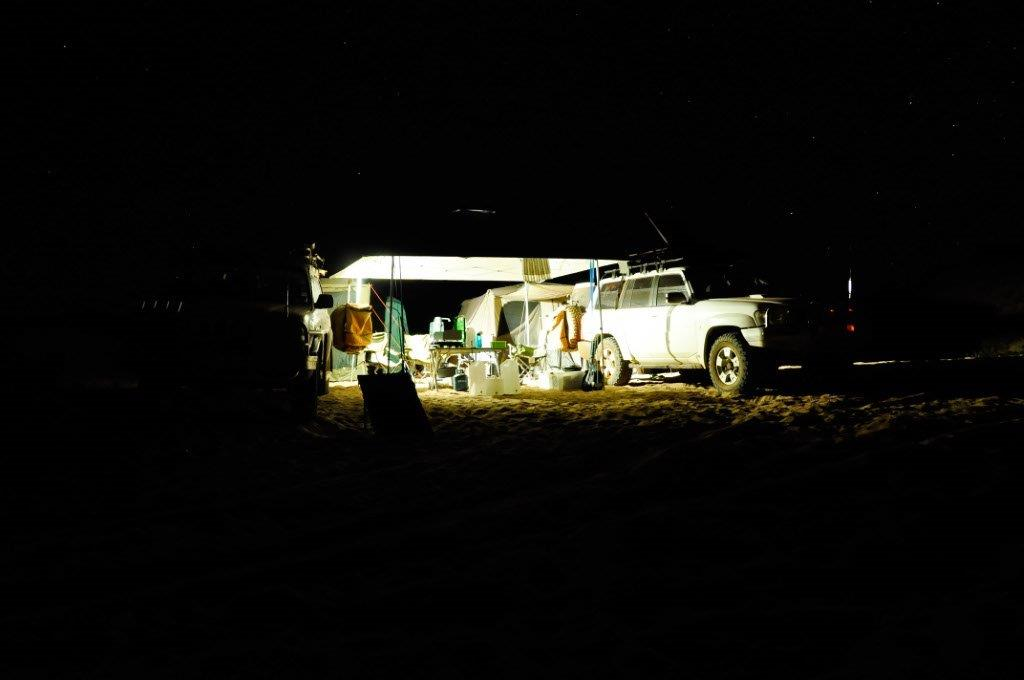 Cleaverville camping at night