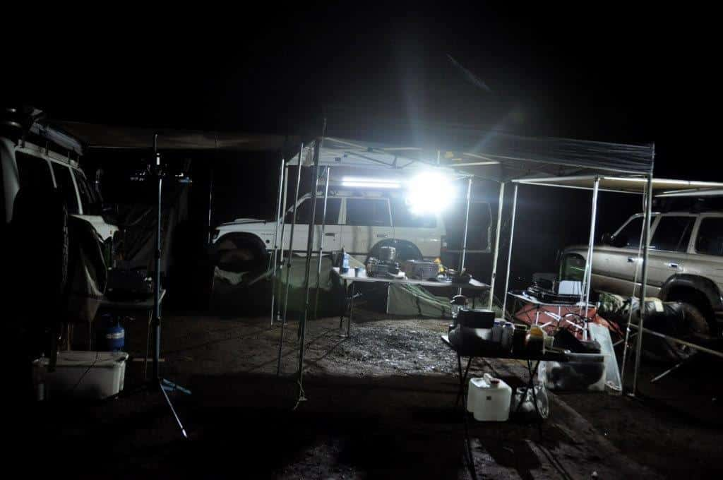 Enjoying camp at Brunswick
