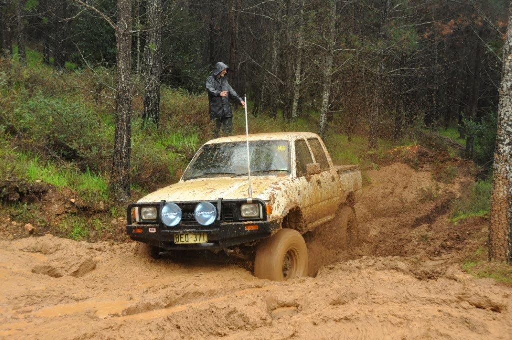 Hilux in mud