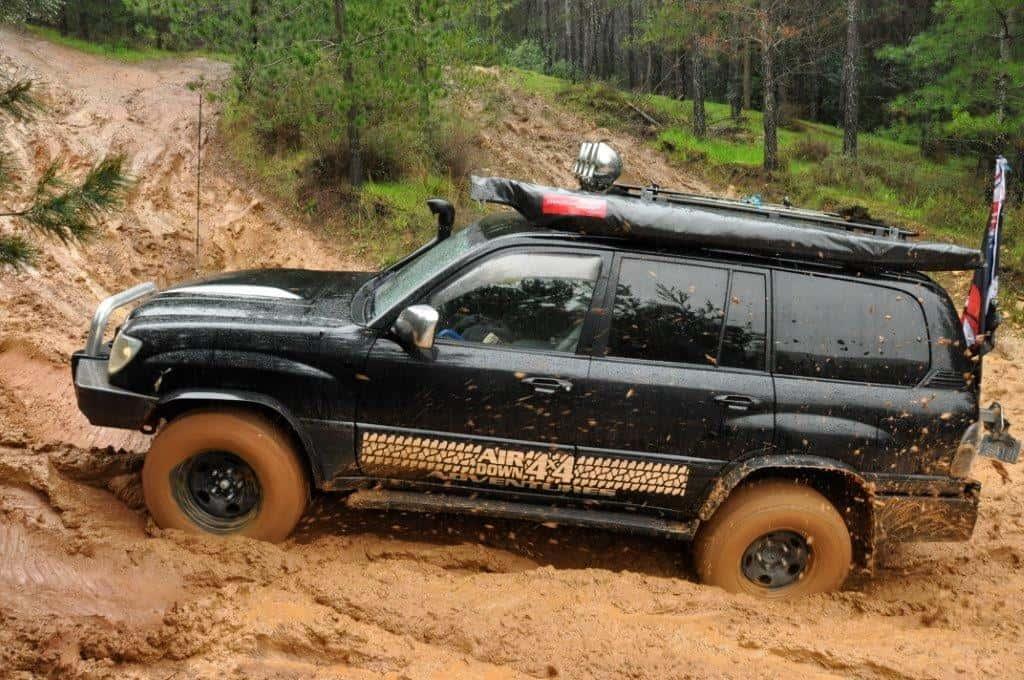 Lexus having fun in the mud