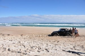 Jeep Bogged at Yeagarup