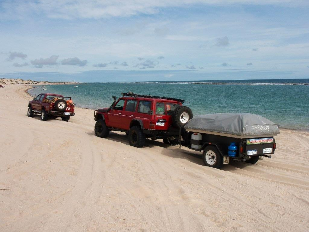 Towing a camper to Lucky Bay