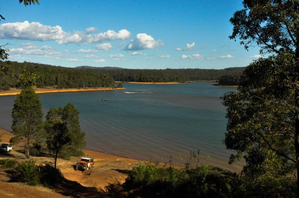 Waroona Dam from on high
