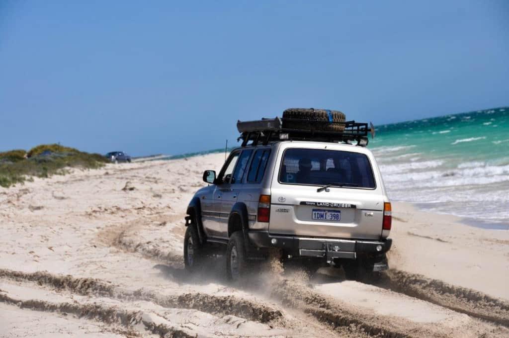 Beach driving in WA