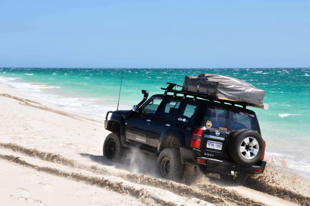 Tyre pressures for beach driving