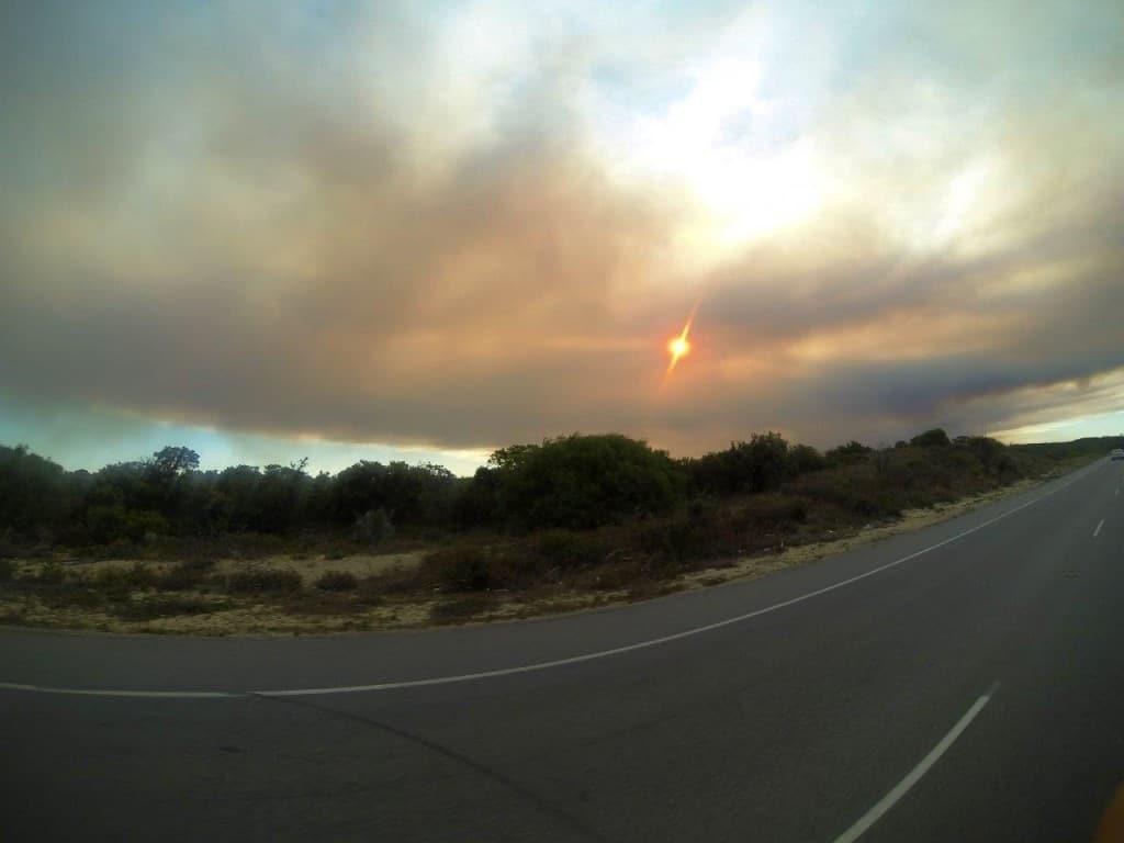 The smoke on the way home