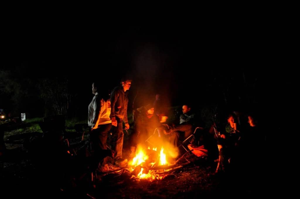 Fire still burning