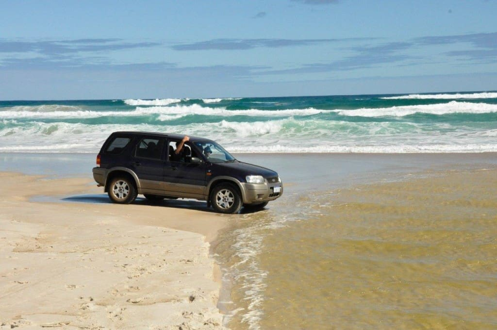 Beach driving in a softroader