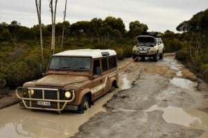 Bogged Defender on the Holland Track
