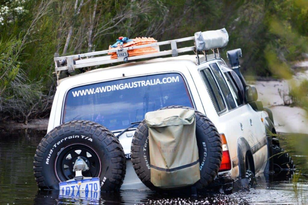 Bogged 4WD in water