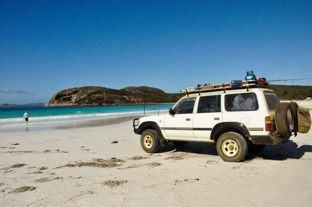 Lucky Bay beach by 4WD